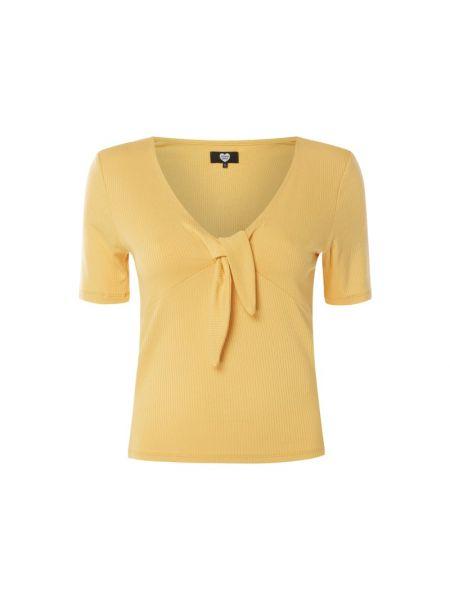Prążkowana bluzka z wiskozy z dekoltem w serek Catwalk Junkie