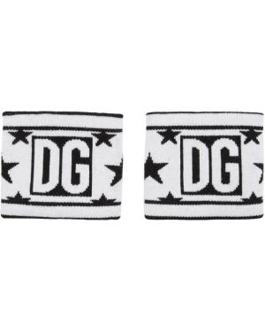 Rękawiczki wełniany z wzorem Dolce And Gabbana