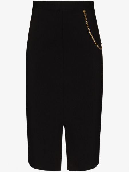 Czarny tutu z wysokim stanem spódnica z wiskozy Givenchy