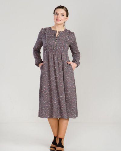 Летнее платье с завышенной талией на пуговицах прима линия