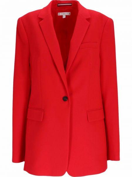 Красный пиджак длинный Tommy Hilfiger