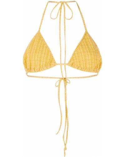 Żółty biustonosz z wiskozy Nanushka