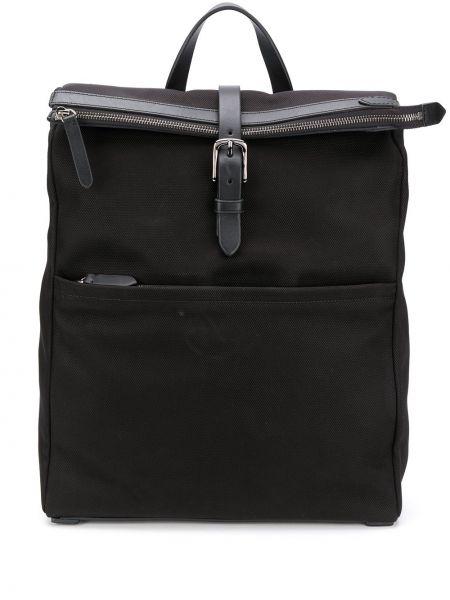 Черная нейлоновая сумка среднего размера на молнии с карманами Mismo