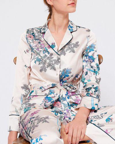 Блузка прямая бежевый Etam