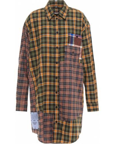 Платье рубашка - зеленое Mcq Alexander Mcqueen