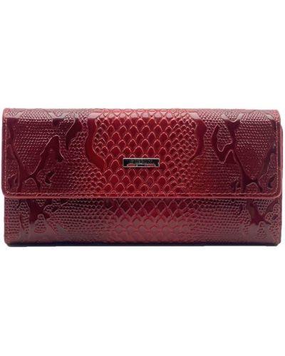 Кожаный кошелек - красный Butun