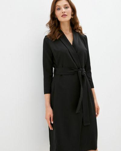 Черное платье с запахом Trendyangel