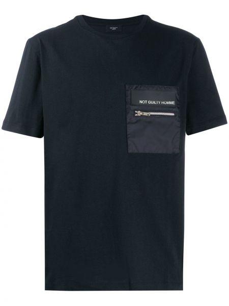 Черная футболка на молнии Not Guilty Homme