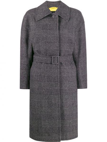 Свободное шерстяное пальто классическое с поясом с воротником Ienki Ienki