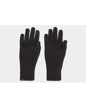 Ciepłe czarne rękawiczki bawełniane Adidas