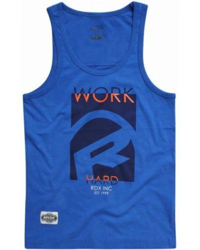 Тренировочная синяя прямая футболка Rdx