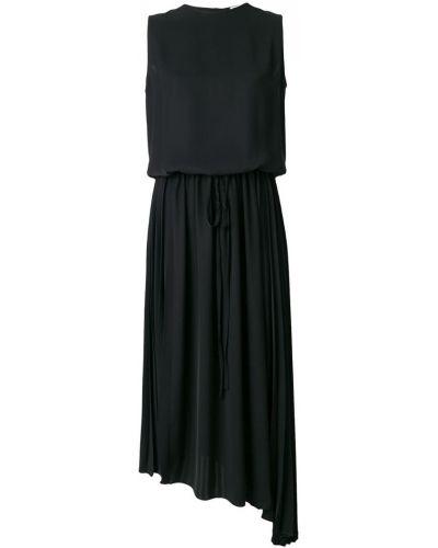 Платье миди без рукавов асимметричное Jil Sander