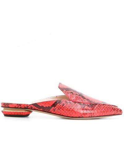 Красные мюли кожаные Nicholas Kirkwood