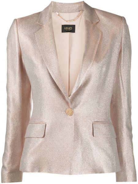 Пиджак с накладными карманами розовый Liu Jo