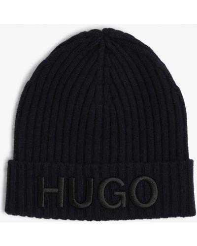 Prążkowana niebieska czapka Hugo