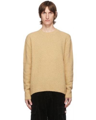 Wełniany sweter z kołnierzem z długimi rękawami z mankietami Kenzo