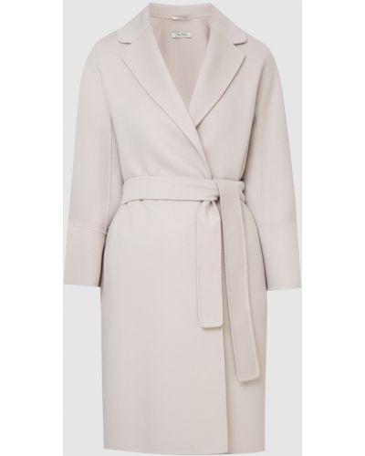 Светло-серое шерстяное пальто Max Mara