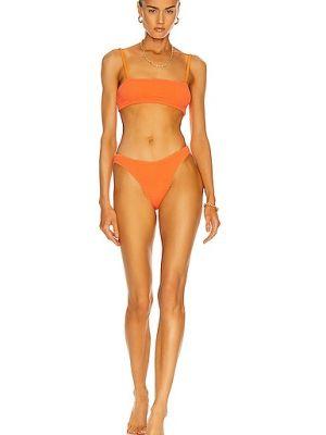 Оранжевый купальник английский Hunza G