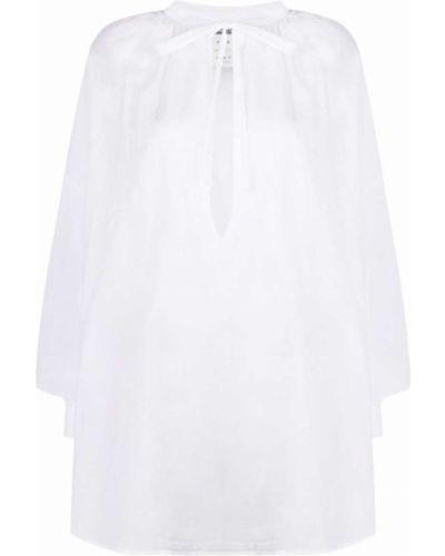 Хлопковая белая рубашка с длинными рукавами Kristensen Du Nord