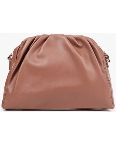 Розовая кожаная сумка Elsi