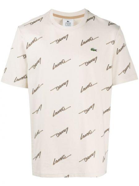 Koszula krótkie z krótkim rękawem z logo z nadrukiem Lacoste