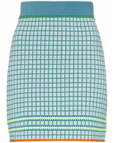 Синяя юбка миди с поясом в рубчик I-am-chen