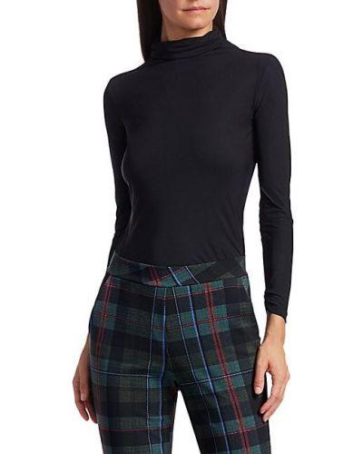 Трикотажный черный топ с длинными рукавами Chiara Boni La Petite Robe