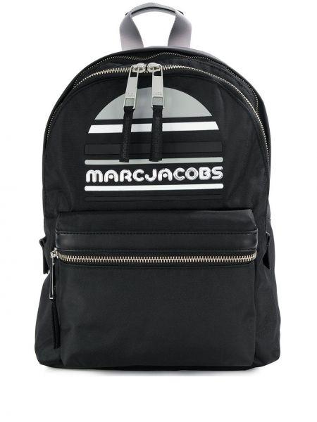 Czarny sport plecak skórzany oversize Marc Jacobs