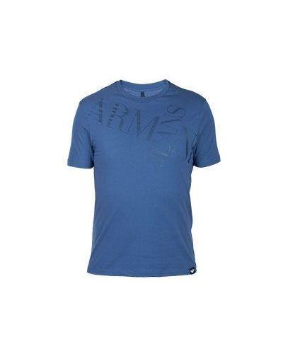Голубая хлопковая футболка Armani Jeans