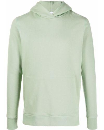 Zielona bluza długa z kapturem z długimi rękawami John Elliott