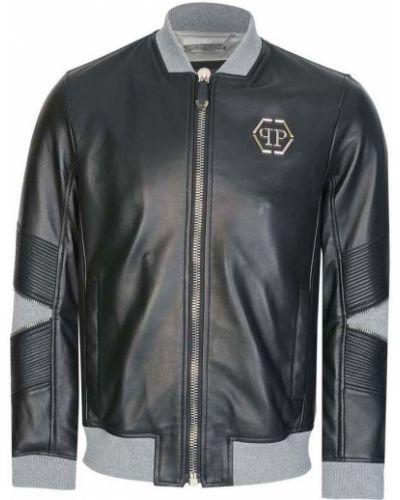 Czarna kurtka srebrna Philipp Plein