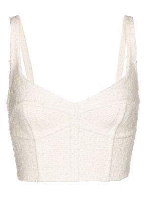 Biały gorset wełniany Marc Jacobs
