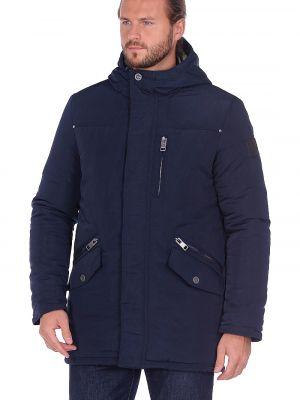 Синяя куртка трансформер с воротником-стойка на кнопках Baon
