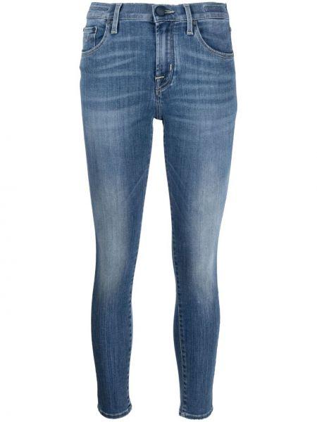 Облегающие синие джинсы-скинни на молнии Jacob Cohen