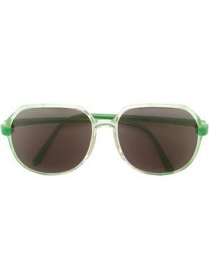 Прямые муслиновые солнцезащитные очки круглые Krizia Pre-owned