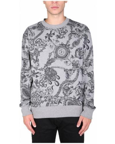 Szara bluza dresowa Versace Jeans Couture