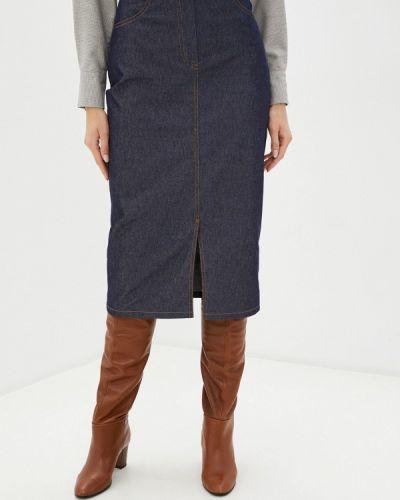 Синяя джинсовая юбка Vittoria Vicci