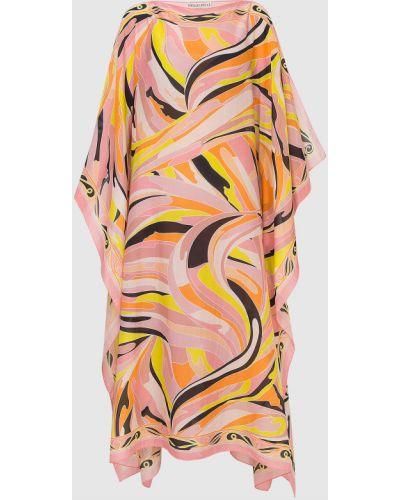 Светло-розовая платье макси Emilio Pucci