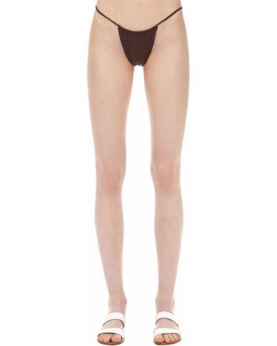 Brązowy bikini z nylonu bezszwowy Aexae