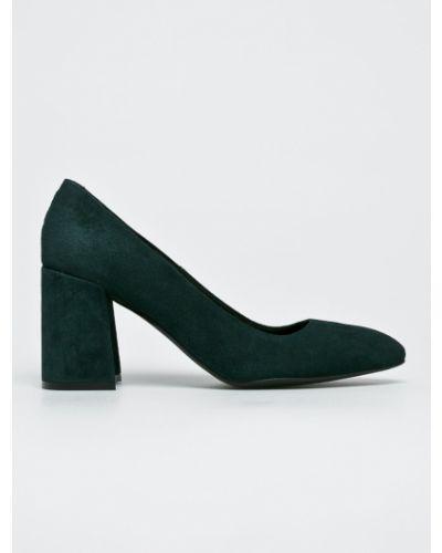 Кожаные туфли на каблуке замшевые Gino Rossi