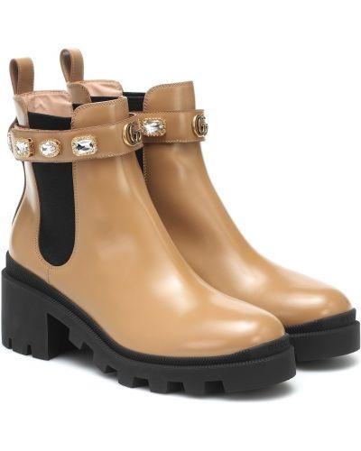 Codziennie brązowy buty z prawdziwej skóry Gucci