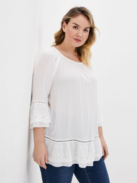 Блузка с длинным рукавом белая весенний Ulla Popken
