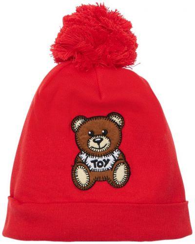 Bawełna bawełna kapelusz z łatami Moschino