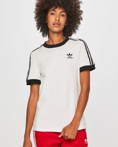 Футболка белая эластичный Adidas Originals