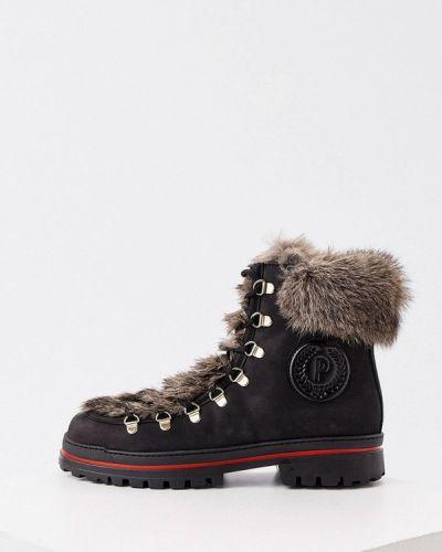 Кожаные ботинки - черные Pollini