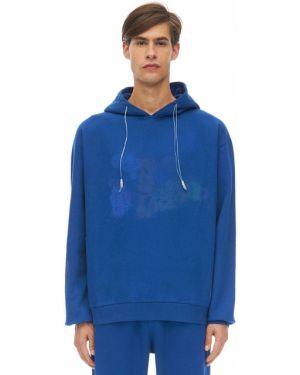 Niebieska bluza z kapturem bawełniana Klsh - Kids Love Stain Hands