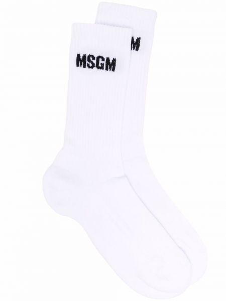 Белые носки с принтом Msgm