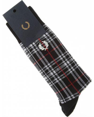 Prążkowane czarne skarpety bawełniane Fred Perry
