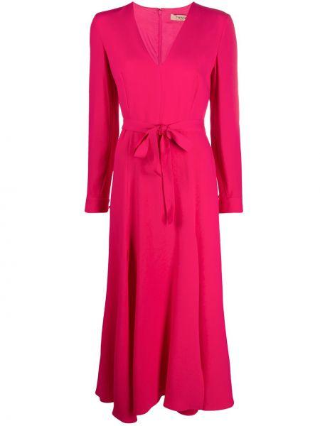 Платье миди розовое на пуговицах Twin-set