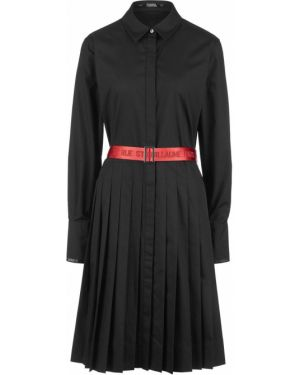 Платье платье-рубашка черное Karl Lagerfeld